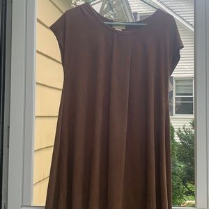 Suede Swing Mini Dress